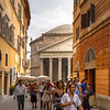 Side streets neart the Pantheon