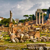 Columns and ruins in the Roman Forum