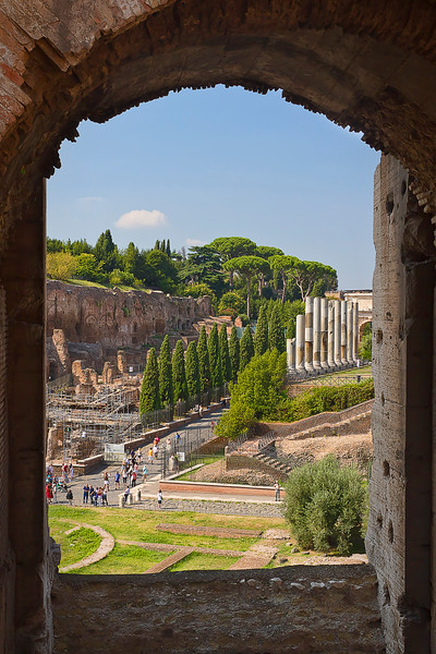 Roman Forum, as viewed from the Colosseum