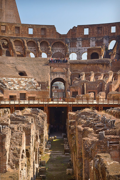 Touring the Colosseum