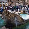 Fontana della Barcaccia, in Piazza di Spagna, near the Spanish Steps