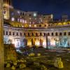 Excavated ruins north of Roman Forum