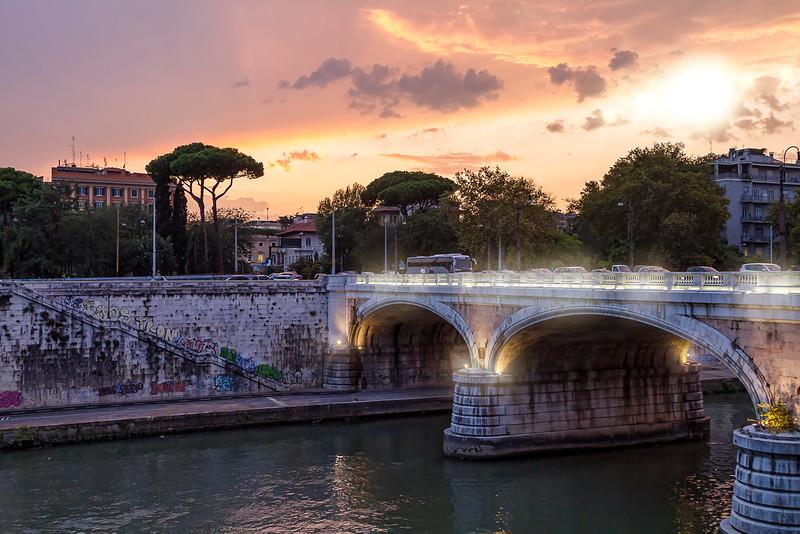 Bridge and River Tiber, near Piazza del Popolo