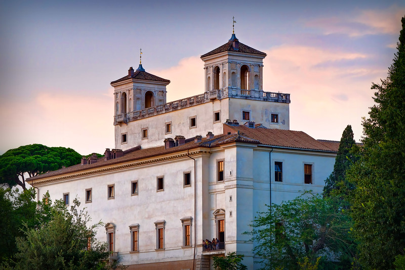Villa Medici, as seen from atop the Sparish Steps