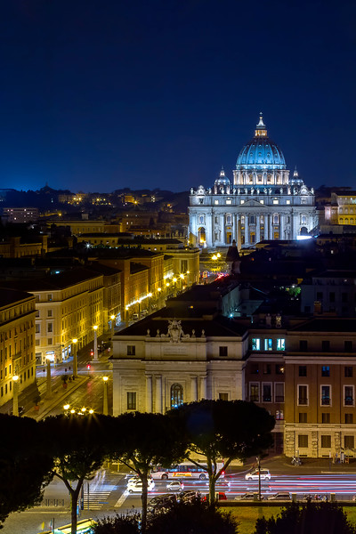 view of Vatican from Castel sant'Angelo