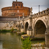 Bridge over Tiber river, eyeing Castel sant'Angelo