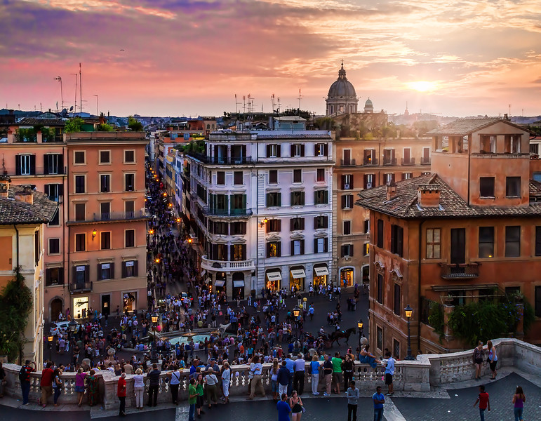 From top of Spanish Steps