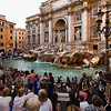 Always a crowd at Trevi Fountain