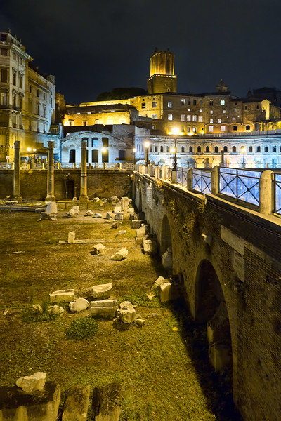 Excavated ruins north of Roman Forum