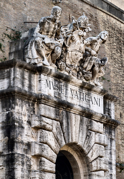 Former entrance to the Vatican Museums