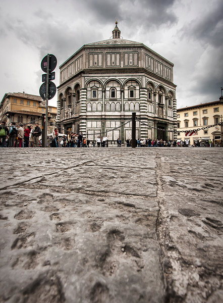 The Baptistery of St. John (Battistero di San Giovanni); next to the Catthedrale di Santa Maria del Fiore. One of the oldest buildings in Florence, begun in 1059.