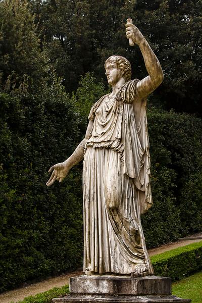 Garden sculpture at Palazzo Pitti