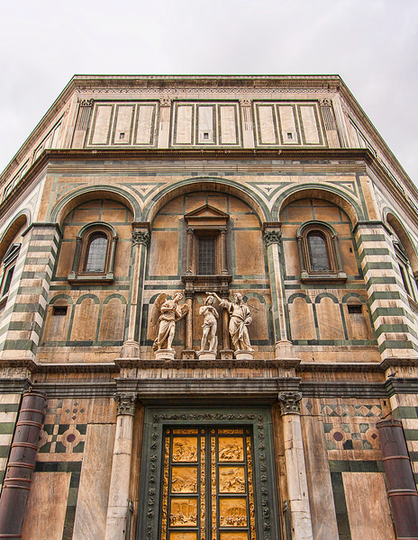 Front facade of the baptistery
