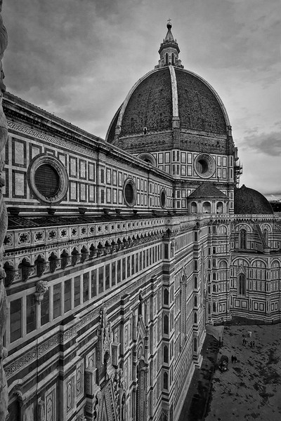 Cathedral of Santa Maria del Fiore, from the bell tower. It pinnacles in the famous Brunelleschi's Dome.