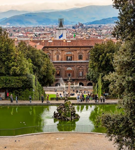 at Palazzo Pitti