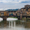 "The unique Ponte Vecchio (""old bridge""), one of the most famous sites in Florence"