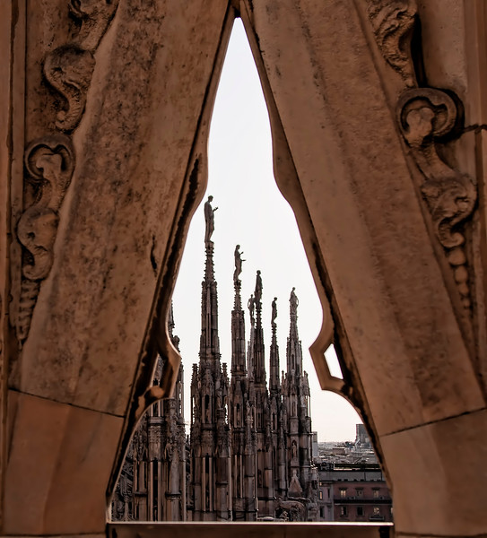 Spires atop the Duomo di Milano