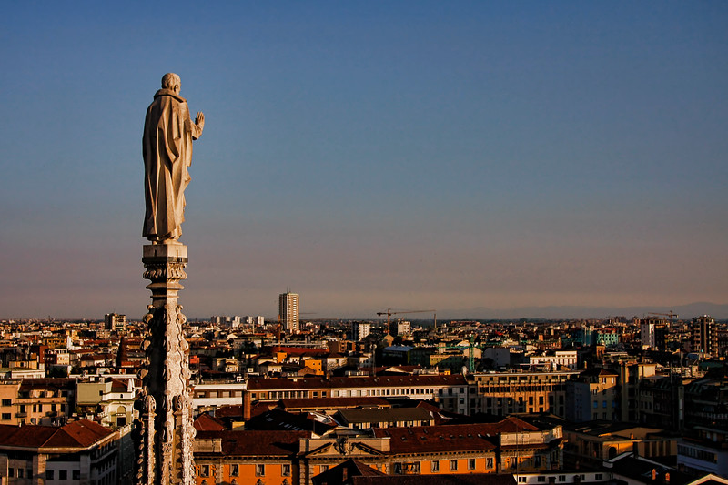Milan from atop the Duomo di Milano