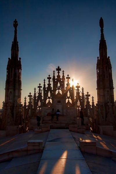 Atop the Duomo di Milano