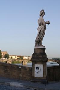 Graffiti on Primavera, ponte Santa Trinita, Firenze  Two exposures created in RAW