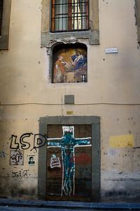 Graffiti, Old and New, Via Filippina, Firenze