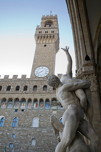 Rape of the Sabines and Palazzo Vecchio, Firenze
