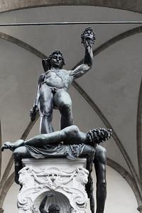 Cellini's Perseus, Loggia della Signoria, Firenze
