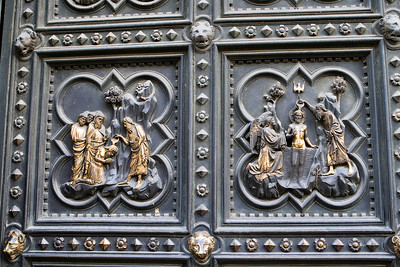 Baptism of Jesus and his Disciples, Southern Doors, Battistero di San Giovanni, Firenze