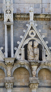 Architectural Detail, Battistero di San Giovanni, Pisa