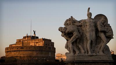 Castel Sant Angelo from Ponte Vittorio di Liberatore Stefano, Roma