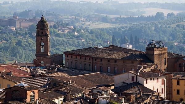 Church of San Nicolo al Carmine, Viewed from Torre del Mangia, Siena