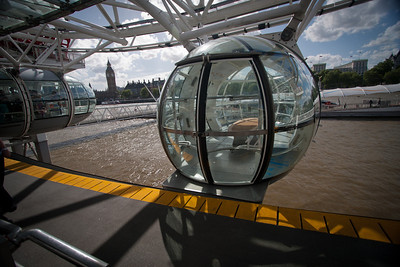 One of the see through capsules on the London Eye.  I will tell you that the A/C in this capsule worked surprisingly well.