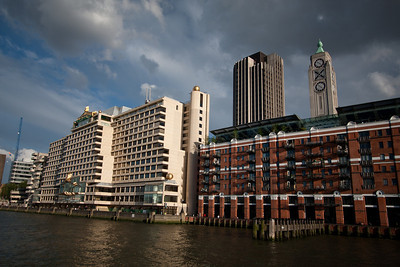 The OXO tower, as viewed from the Thames.