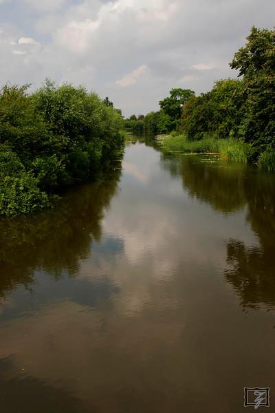 Another waterway bordering Naarden.