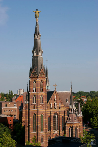 I had a good view of this church, one of the older buildings in Eindhoven, from my hotel window.