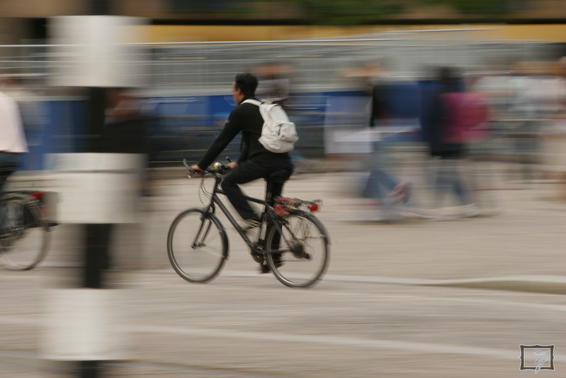 Bicycles make the perfect subject to practice panning shots.