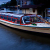 """Freshly washed canal tour boat in evening.<br><br><span class=""""subcaption"""">I like the surreal mood created from a longer-exposed dusk scene.</span>"""