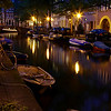 "Just one street away from the main hussle was this serene canal scene.<br><br><span class=""subcaption"">Although I used a tri-pod for these night shots, it couldn't fix the boats that moved gently from the small canal waves.</span>"