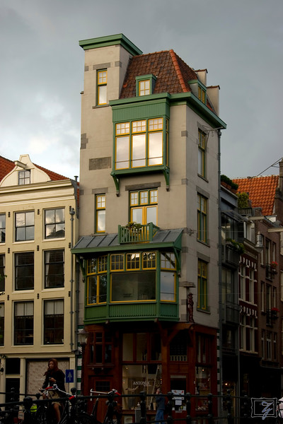 Typical Amsterdam house.
