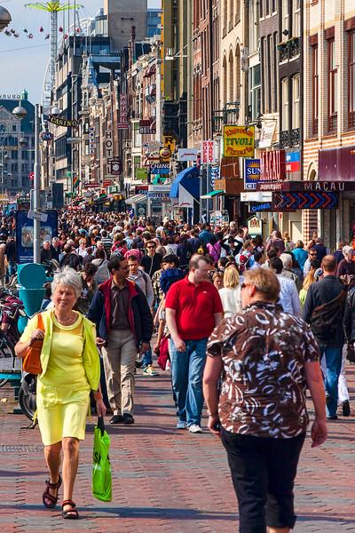 Typical Amsterdam street scene.