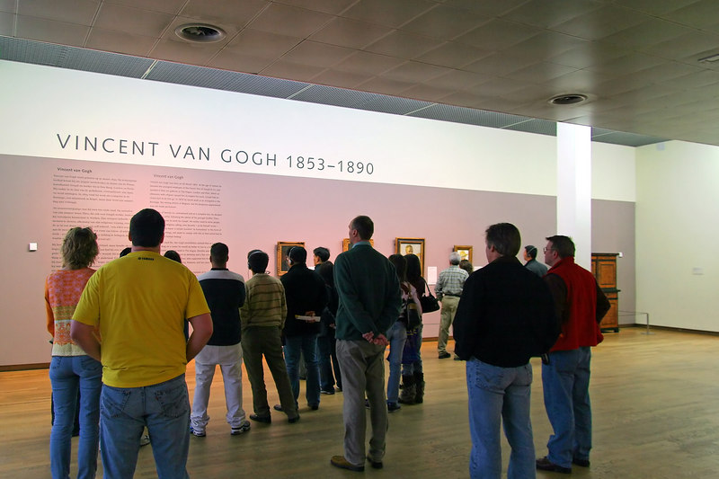 "Some colleagues tour the Van Gogh museum in Amsterdam.<br><br><span class=""subcaption"">1/8-sec handheld is a testament to the image stabilized lens.<br><i>Lens: A<br>Photographer: C&#43;</i></span>"