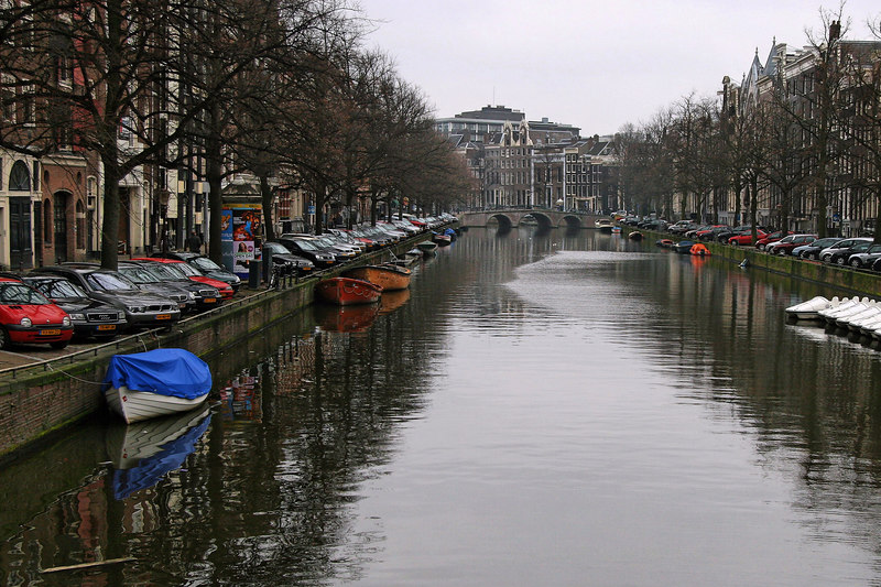 For work trips to Acht, we typically arrive in Amsterdam and use local trains to get to Eindhoven. This affords some stopover time to enjoy Amsterdam scenery. This trip, in January, was cold and overcast.