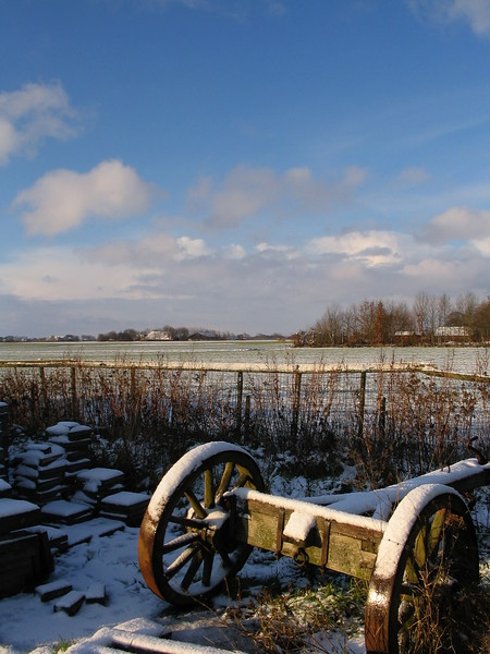 Snow-Covered Wagon