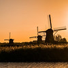 Windmills sunset