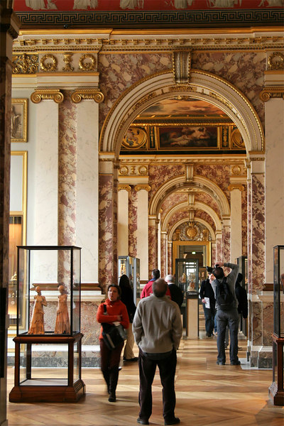 """Each wing of the Louvre had a distinctive style.<br><br><span class=""""subcaption"""">After the mountainous indoor shots from this trip, made possible by the image stabilized lens, I don't think I can ever go without such technology.</span>"""