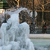 Still with the cold! I believe it averaged around zero degrees Celsius for our three day tour. This frozen fountain was enough a site to attract even the locals to snap pictures.