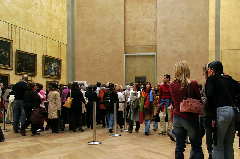 """Ah, the Mona Lisa. I wonder how you say """"piece de resistance"""" in French."""