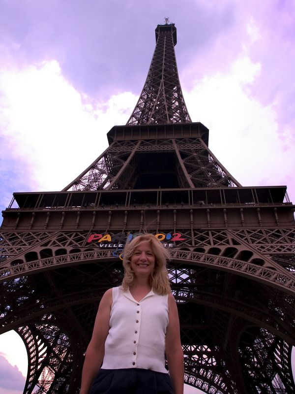 My beautiful wife, Cindy, in front of the Eiffel Tower, Paris, France, 24 June 05.
