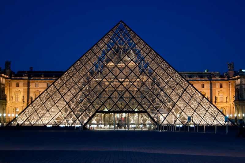 The Louvre at night