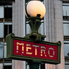 Typical sign for the Metro in Paris